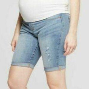 6 Maternity Denim Jeans Shorts Bermuda Isabel